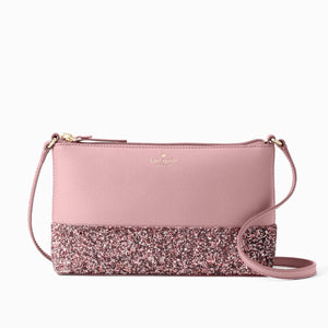 kate spade new york Ramey Greta Court Glitter Ramey Dusty Peony Crossbody Bag-Seven Season