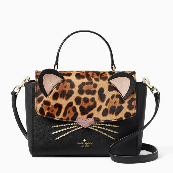 kate spade new york Run Wild Leopard Cat Kerrie Satchel Bag-Seven Season