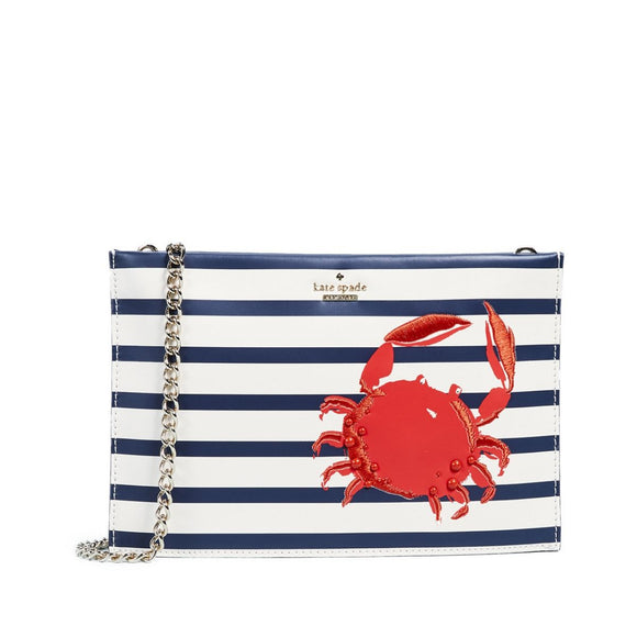 kate spade new york Shore Thing Crab Stripe Sima Crossbody Bag-Seven Season