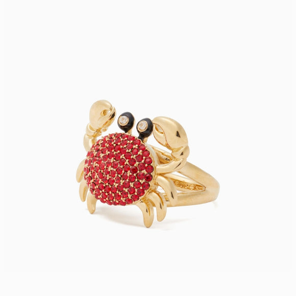 kate spade new york Shore Thing Pave Crab Ring-Seven Season