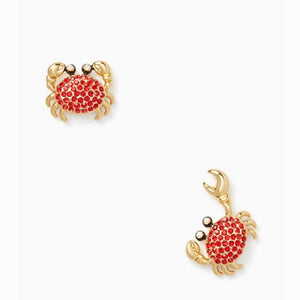 kate spade new york Shore Thing Pave Crab Stud Earrings-Seven Season