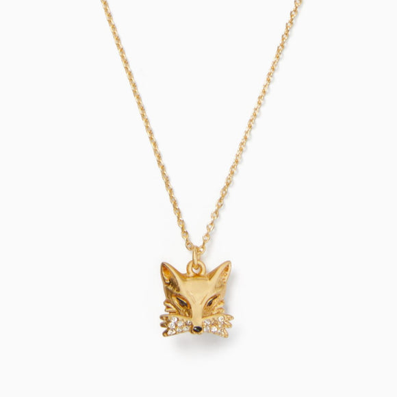 kate spade new york So Foxy Fox Mini Pendant Necklace-Seven Season