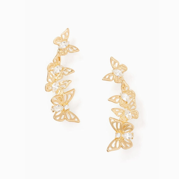 kate spade new york Social Butterfly Linear Earrings-Seven Season
