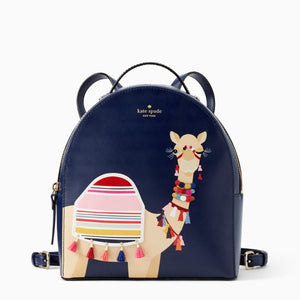 kate spade new york Spice Things Up Camel Sammi Navy Leather Backpack-Seven Season