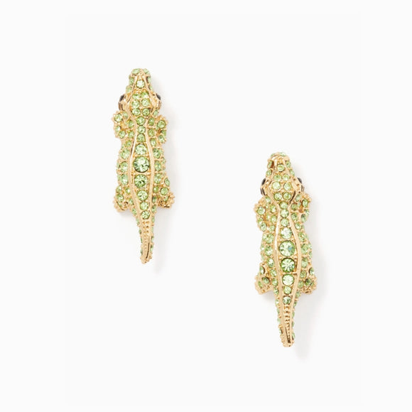 kate spade new york Swamped Pave Alligator Stud Earrings-Seven Season