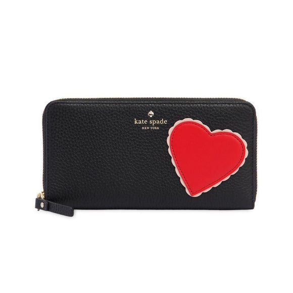 kate spade new york Yours Truly Heart Applique Lacey Wallet-Seven Season