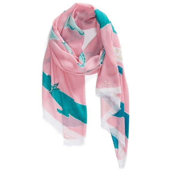 kate spade new york Alligator Oblong Scarf-Seven Season