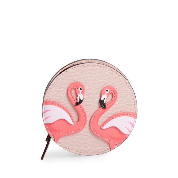 kate spade new york By the Pool Flamingo Polly Coin Purse-Seven Season