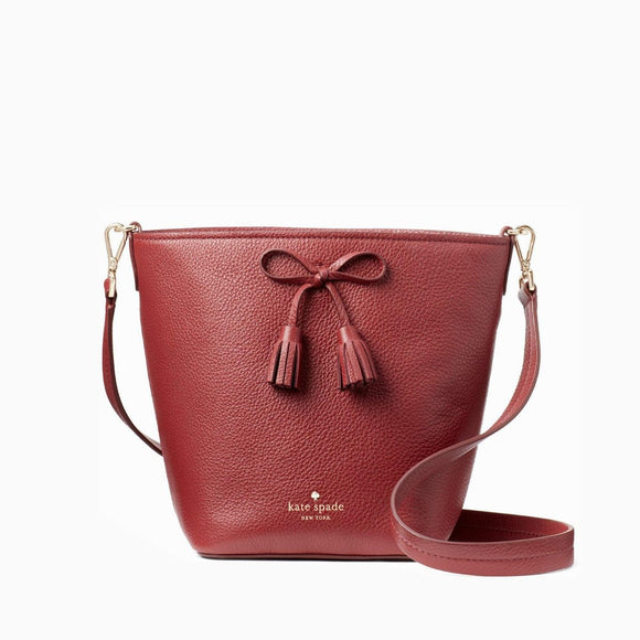 kate spade new york Hayes Street Vanessa Red in Sienna Bucket Bag-Seven Season