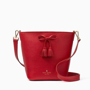 kate spade new york Hayes Street Vanessa Royal Red Bucket Bag-Seven Season