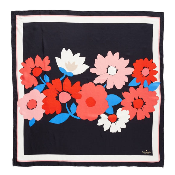 kate spade new york Large Daisy Square Scarf-Seven Season