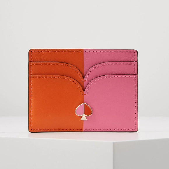 kate spade new york Nicola Bicolor Juicy Orange and Hibiscus Tea Cardholder-Seven Season