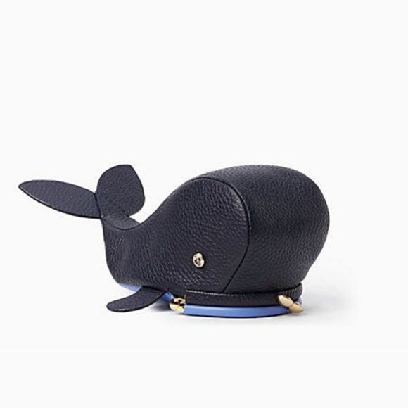 kate spade new york Off We Go Whale Leather Coin Purse-Seven Season
