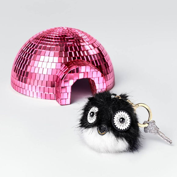 kate spade new york Penguin Pouf Keychain-Seven Season