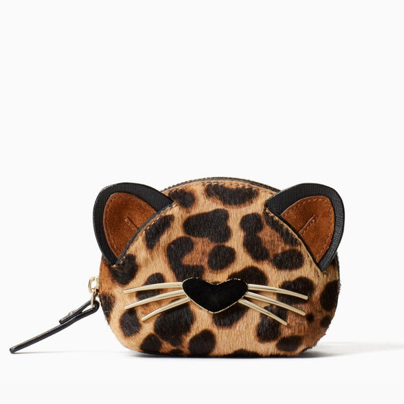 kate spade new york Run Wild Leopard Dumpling Coin Purse-Seven Season