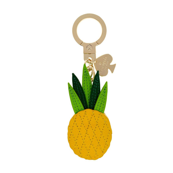 kate spade new york Yellow Leather Pineapple Keychain-Seven Season