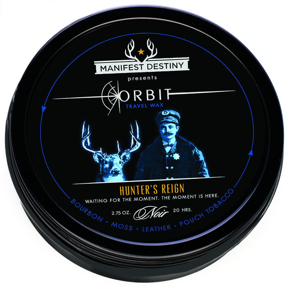 ORBIT TRAVEL WAX - HUNTER's REIGN Luxury Candle Tin - Manifest Destiny