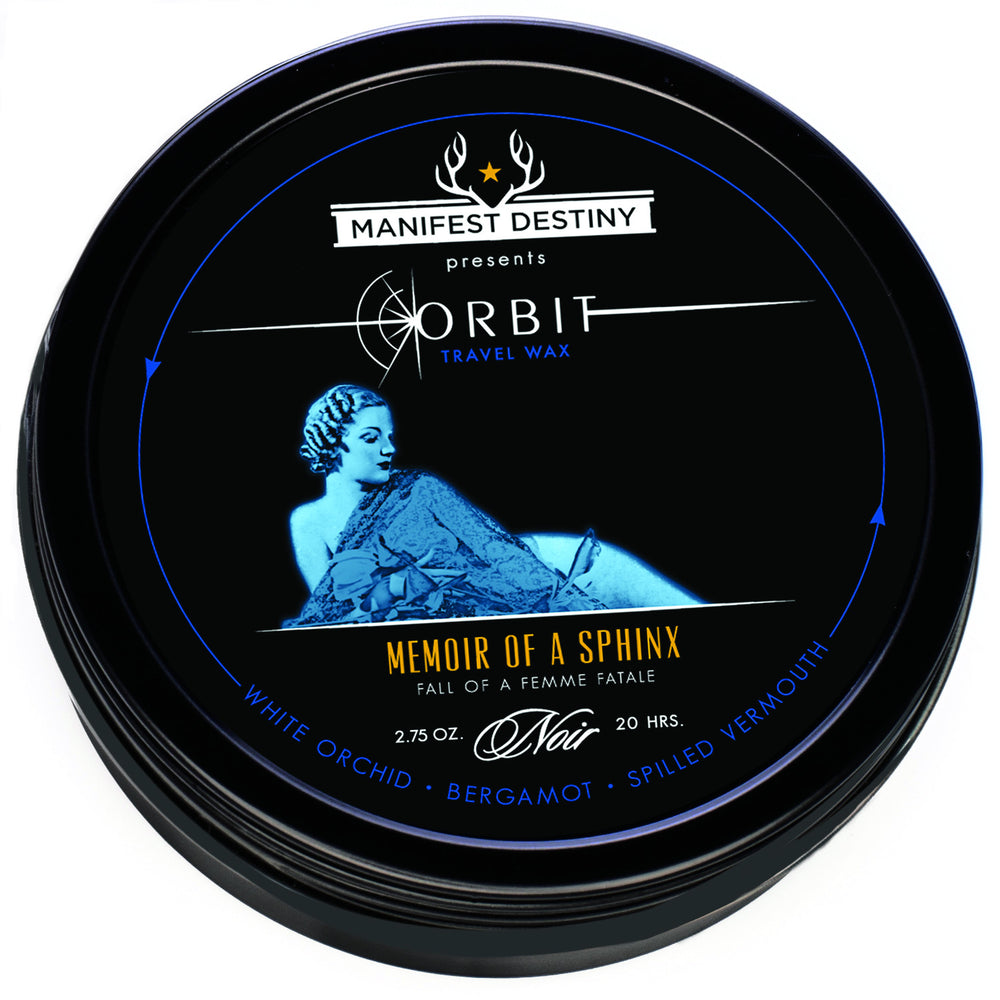 ORBIT TRAVEL WAX - MEMOIR OF A SPHINX Luxury Candle Tin