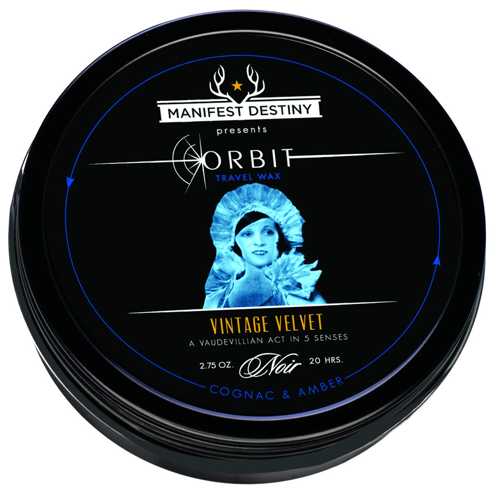 ORBIT TRAVEL WAX - VINTAGE VELVET Luxury Candle Tin - Manifest Destiny