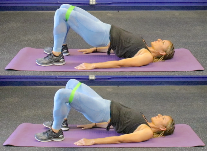 1b. Glute Bridge w/Band Flutter