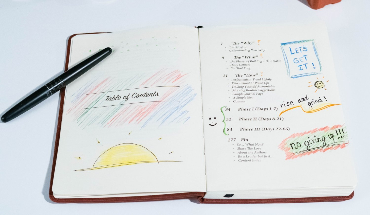 morning sidekick journal, miracle morning, wake up early, morning routine, habit tracker
