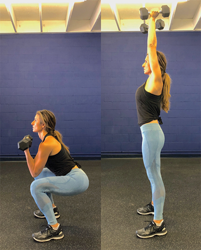 2b. Squat w/Overhead Press