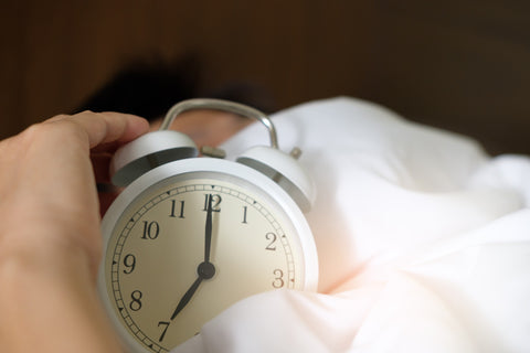 Person Holding Alarm Clock