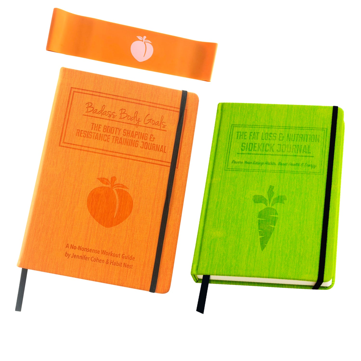 Bundle: The Badass Body Goals Fitness Journal + The Nutrition Sidekick Journal