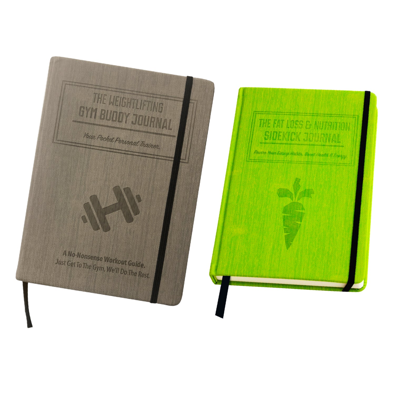 Bundle: The Weightlifting Gym Buddy Journal (Volume 1) + The Nutrition Sidekick Journal