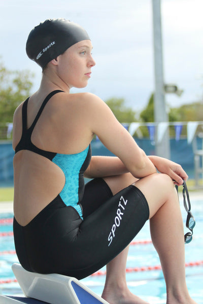 Aqua Leopard Racing Kneesuit