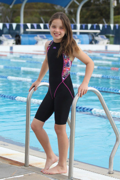 Zebra Multicoloured Pink Stitching Racing Kneesuit