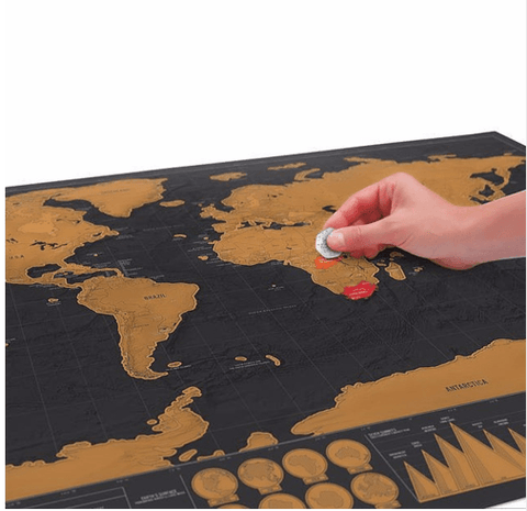 Platinum Edition Scratch Off World Map