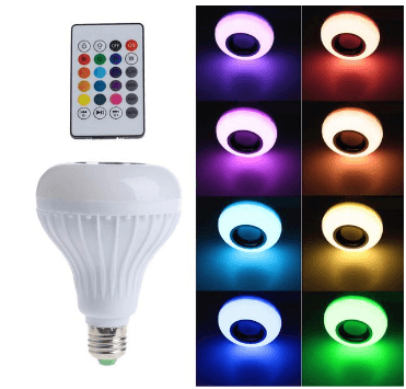 10,000+ Hour Bluetooth LED Lightbulb Speaker