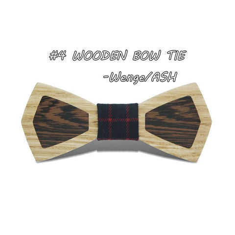 Hipster Bamboo Bow Tie