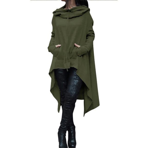 Women Casual Oversize Hoodie Sweatshirt Hoody Loose Long Sleeve Outwear Mantle Hooded Cover Pullover Clothes