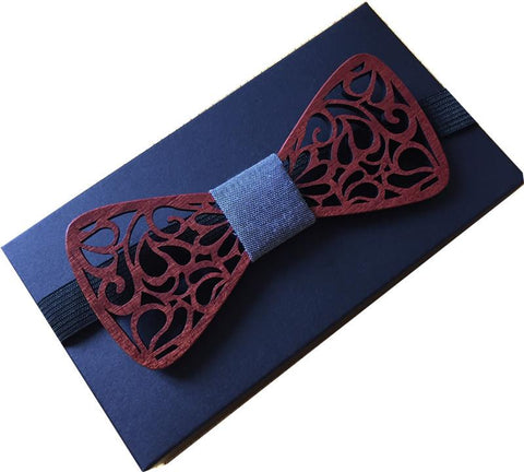 Wooden Butterfly Bow Tie