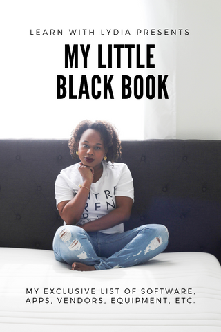 Learn with Lydia: My Little Black Book