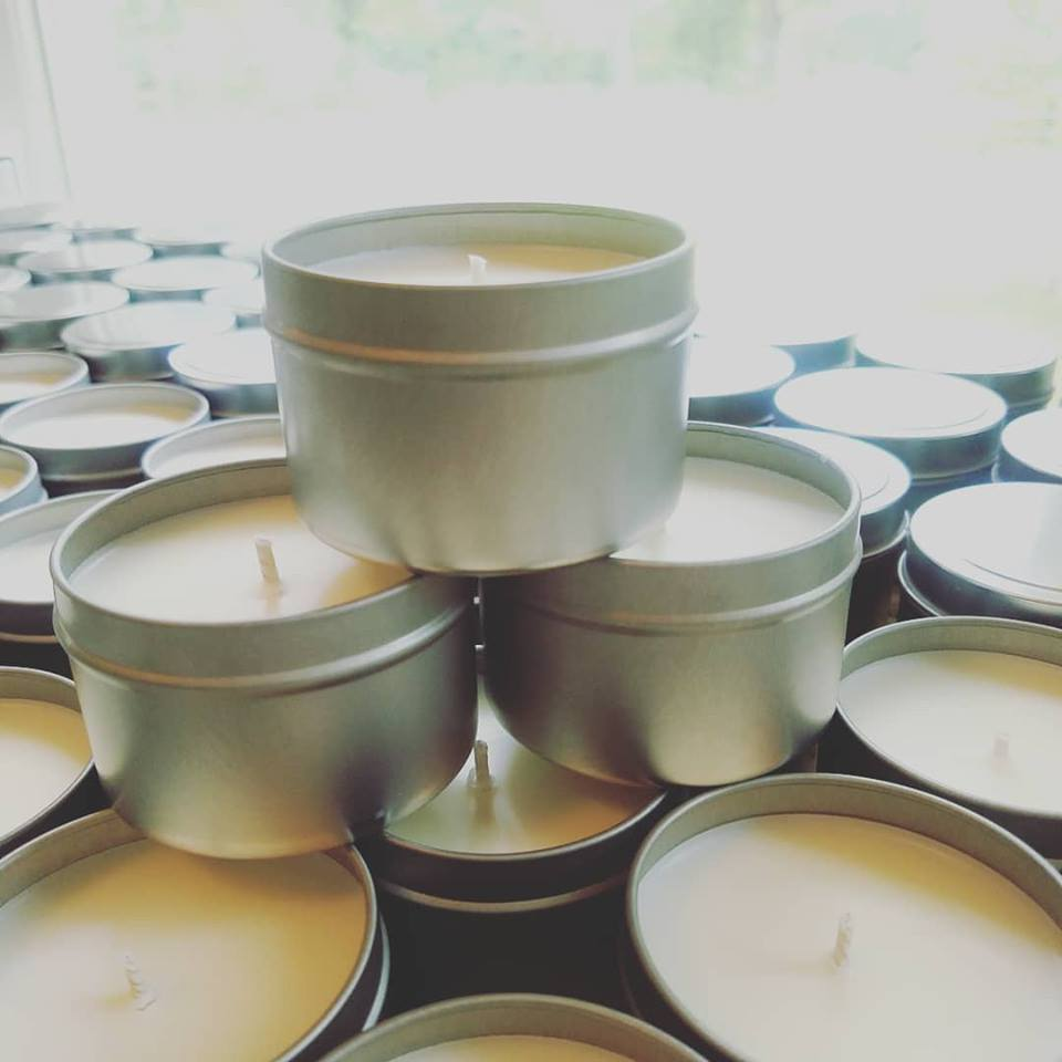 8 oz Ginger Peach Soy Candle