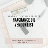 Fragrance Oil Vendor List