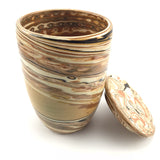 Marble Ceramic - Tall mug with a lid