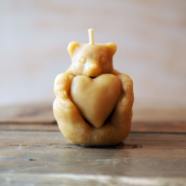 Beeswax candle - Bear Cub