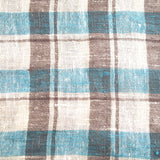 Linen Kitchen Towel - Blue Check