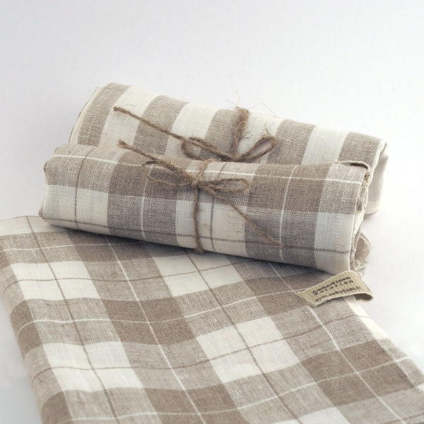Linen Kitchen Towel - Check / Stripe