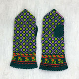 Hand knitted Latvian mittens - Mens
