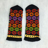 Hand knitted Latvian mittens - Saule - Mens