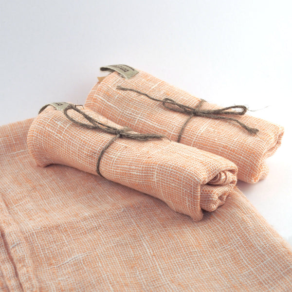 Linen Kitchen Towel - Salmon