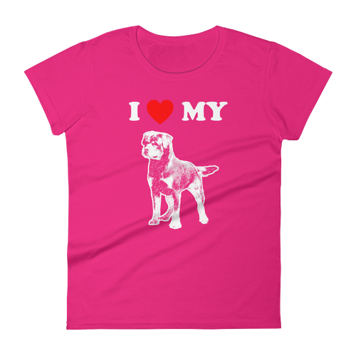 I Love My Rottweiler - Women's Short Sleeve T-shirt