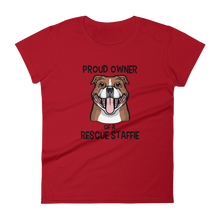 Proud Owner of a Rescue Staffie – Women's Short Sleeve Tee