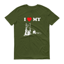 I Love My German Shepherd - Men's Short Sleeve T-shirt
