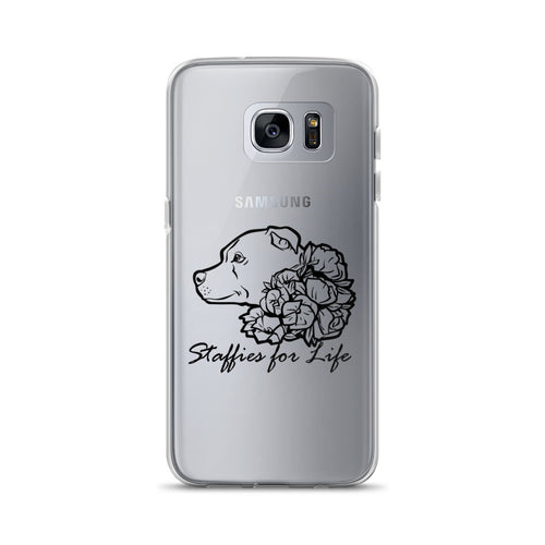 Staffies for Life - Black - Samsung Case S7, S7 Edge, S8, S8+